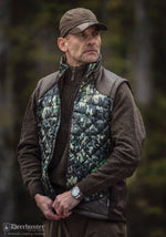 Man wearing Deerhunter IN-EQ Camo bodywarmer