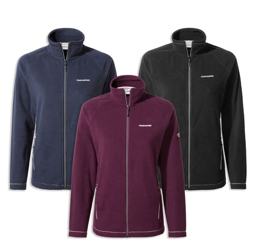 Craghoppers Miska Ladies Micro Fleece Jacket | Blue Navy, Potent Plum, Black