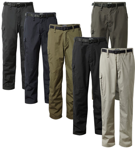 Craghoppers Kiwi Trousers | Rubble, Dark Moss, Dark Navy, Black Pepper, Black, Bark