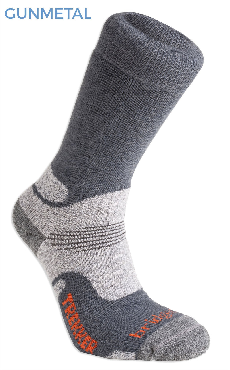 Gunmetal Grey Bridgedale Hike Mid Weight Sock