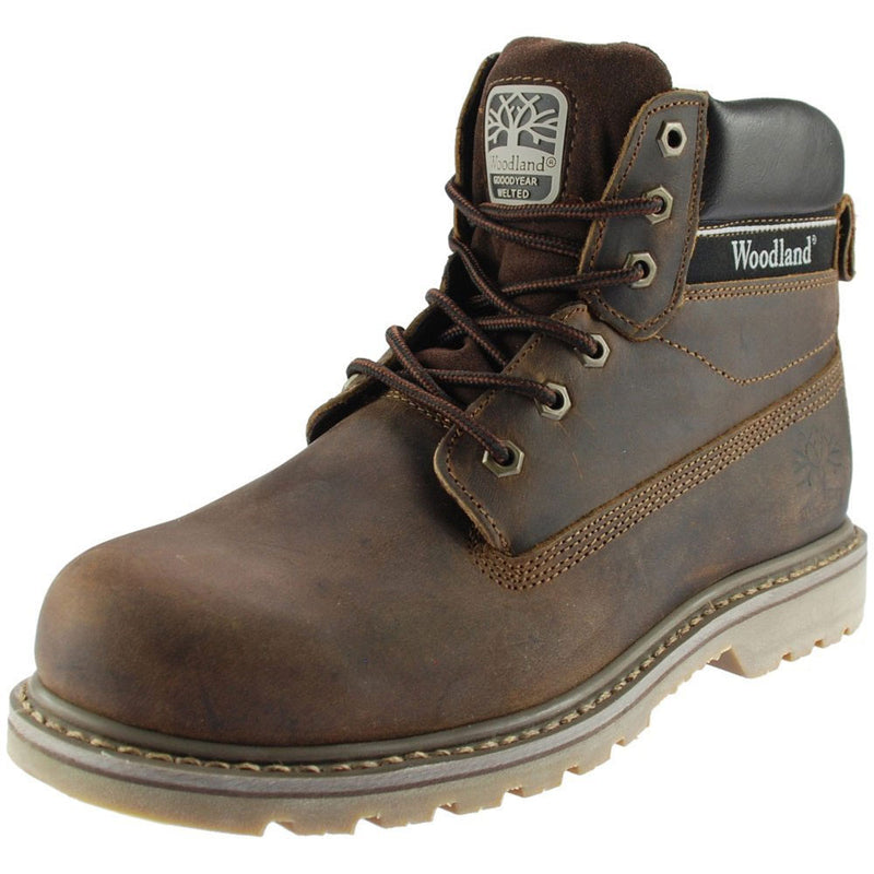 The 6 Eye Utility Boot has a high quality brown waxy leather upper