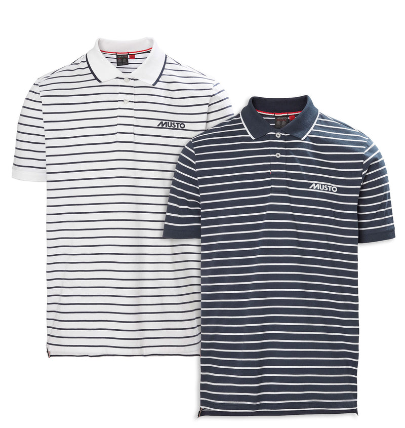 Musto Rhine Stripe Polo Shirt | True Navy White