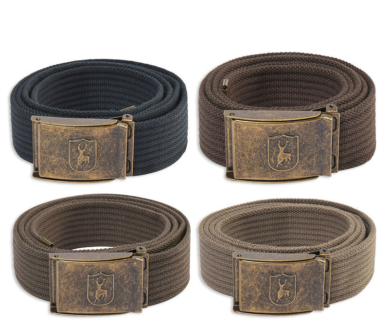 Deerhunter Canvas Deer Buckle Belt | Bark, Driftwood, Anthracite, Otter Brown