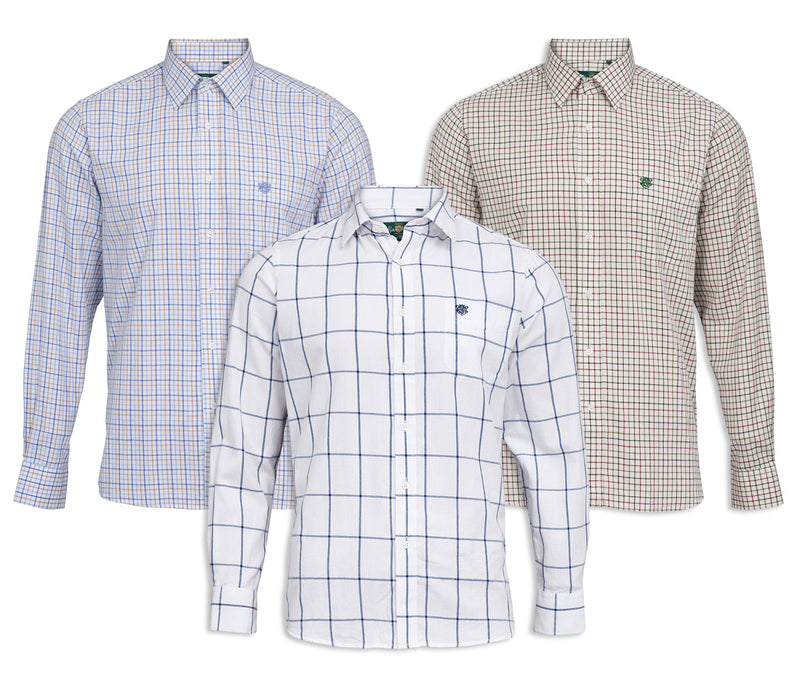 Alan Paine Aylesbury Check Shirt | Blue, Blue beige, Red Green