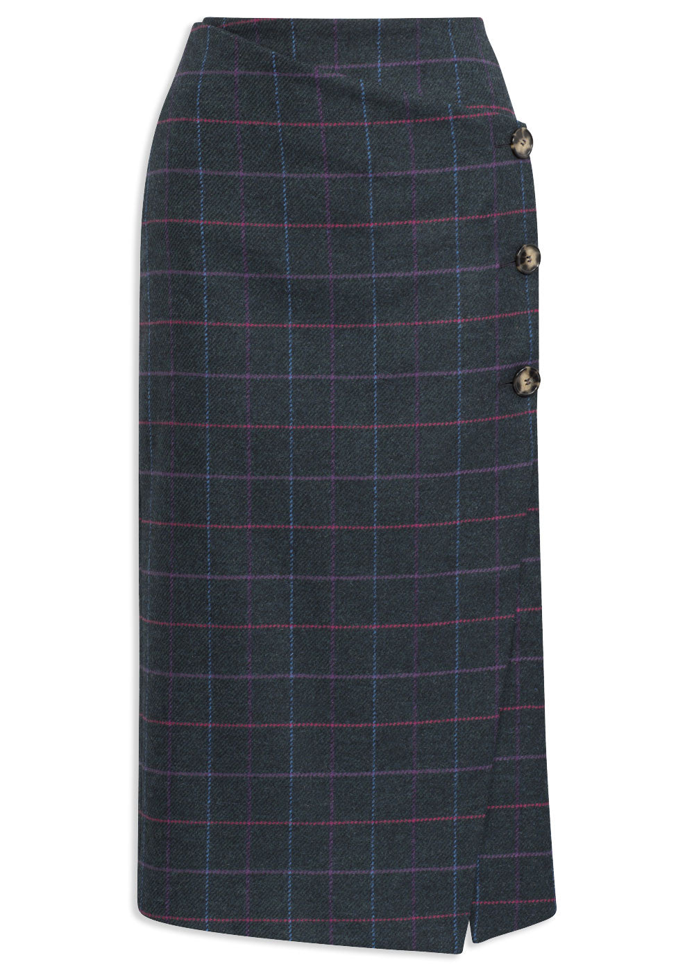 Alan Paine Surrey Pencil Wrap Skirt | Dark Navy