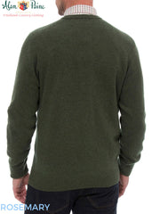 rear view Alan Paine Burford Vee Neck Pullover