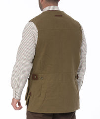 rear view Kexby Men's Shooting Gilet by Alan Paine