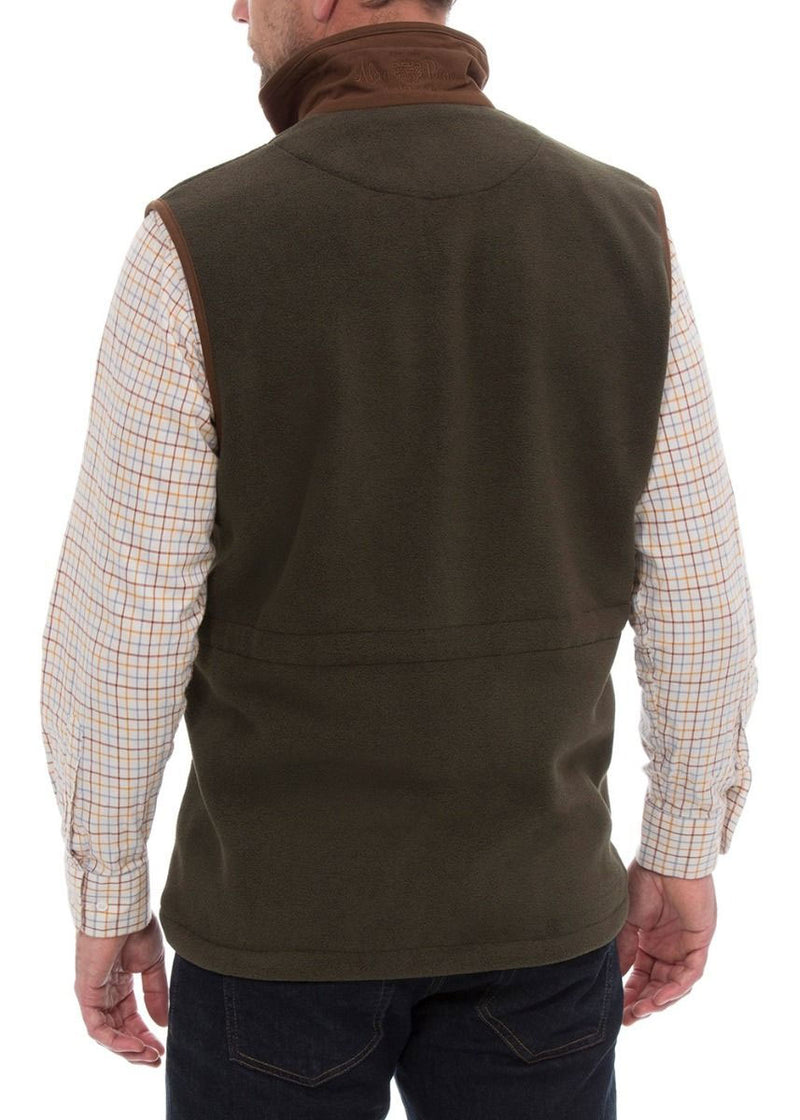 Back View Alan Paine Aylsham Fleece Shooting Gilet