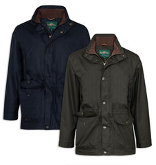 Alan Paine Fernley Waterproof Field Coat | Navy Blue, woodland Green
