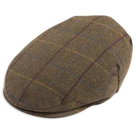 Alan Paine Rutland Waterproof Tweed Flat Cap | Alder