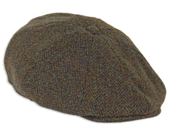 Heather Arran 8-Piece Harris Tweed Cap | Forest
