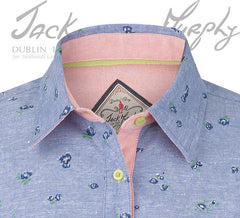collar detail Jack Murphy Lorraine Ladies Cotton Shirt