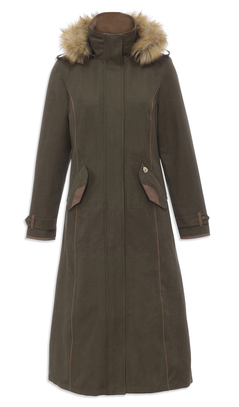 olive Berwick Ladies Long Waterproof Coat - Classic Fit