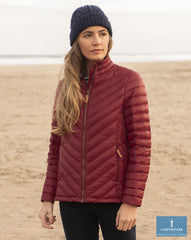 Deer Red Ladies Lara Quilted Down Jacket by Lighthouse