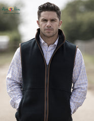 Alan paine Man's Alysham Fleece Gilet  Navy