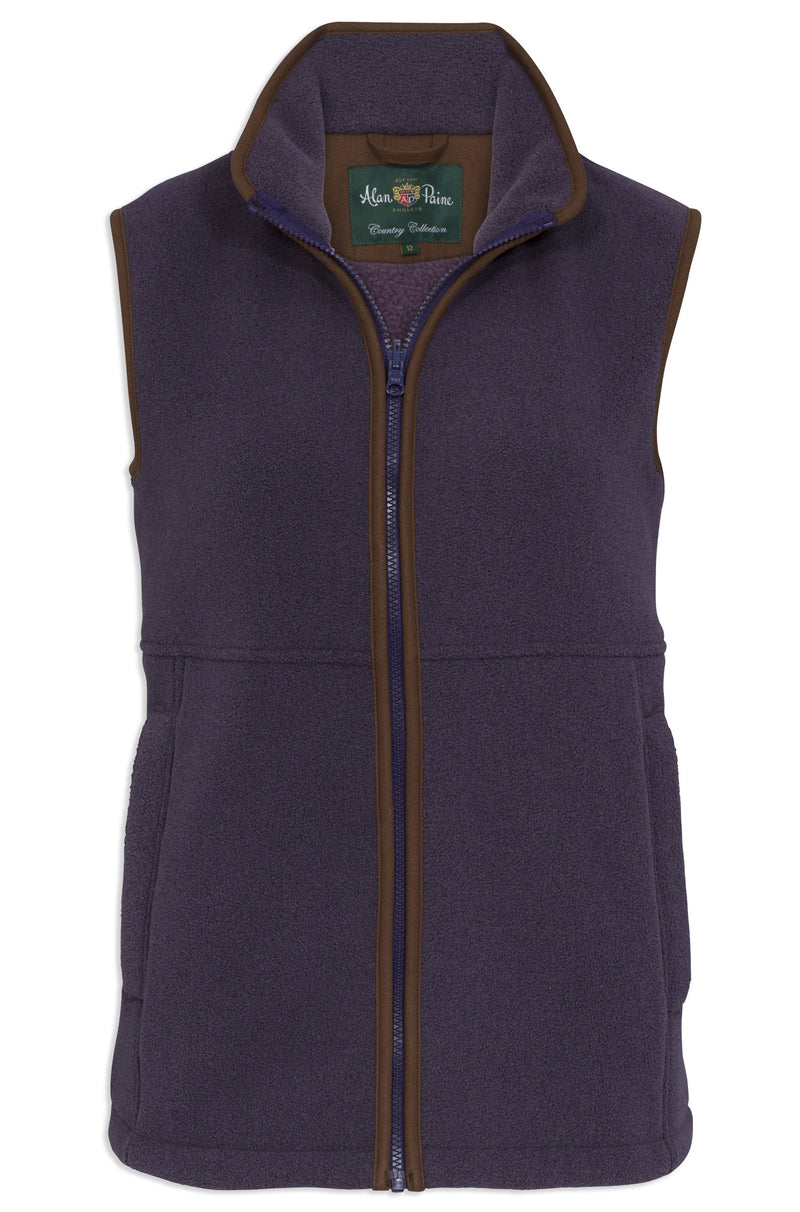 Alan Paine Aylsham Fleece Gilet | Lilac