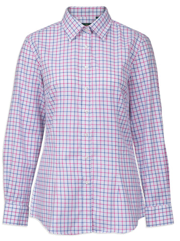 Alan Paine Bromford Ladies Shirt | Blue/Pink Check