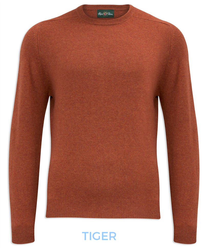 Tiger colour Alan Paine Burford Crew Neck Sweater