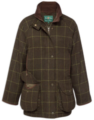 Alan Paine Combrook Ladies Tweed Coat | Avocado Green