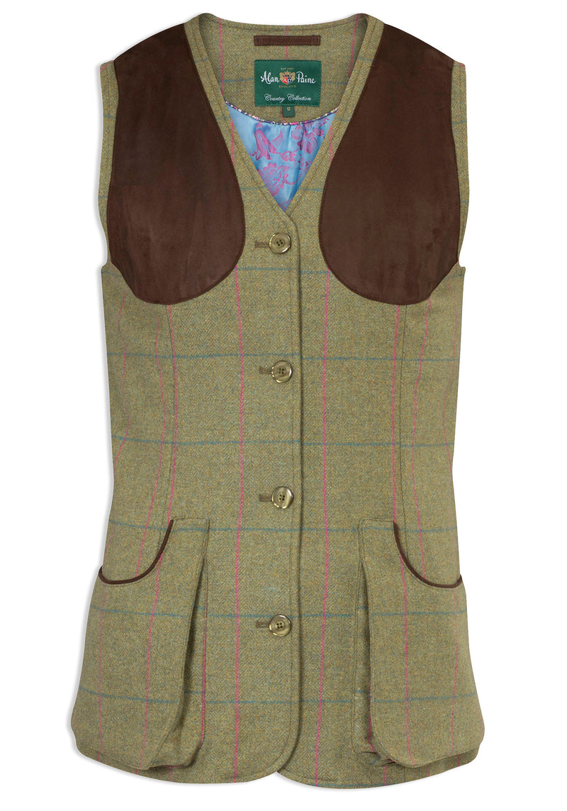Alan Paine Ladies Tweed Shooting Waistcoat | Juniper