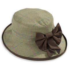 juniper Combrook Ladies Tweed Hat with Brim and Bow
