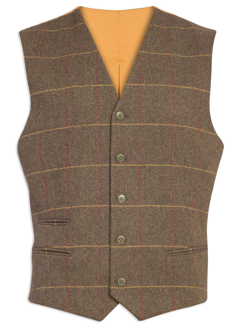 Combrook Mens Tweed Lined Back Waistcoat by Alan Paine