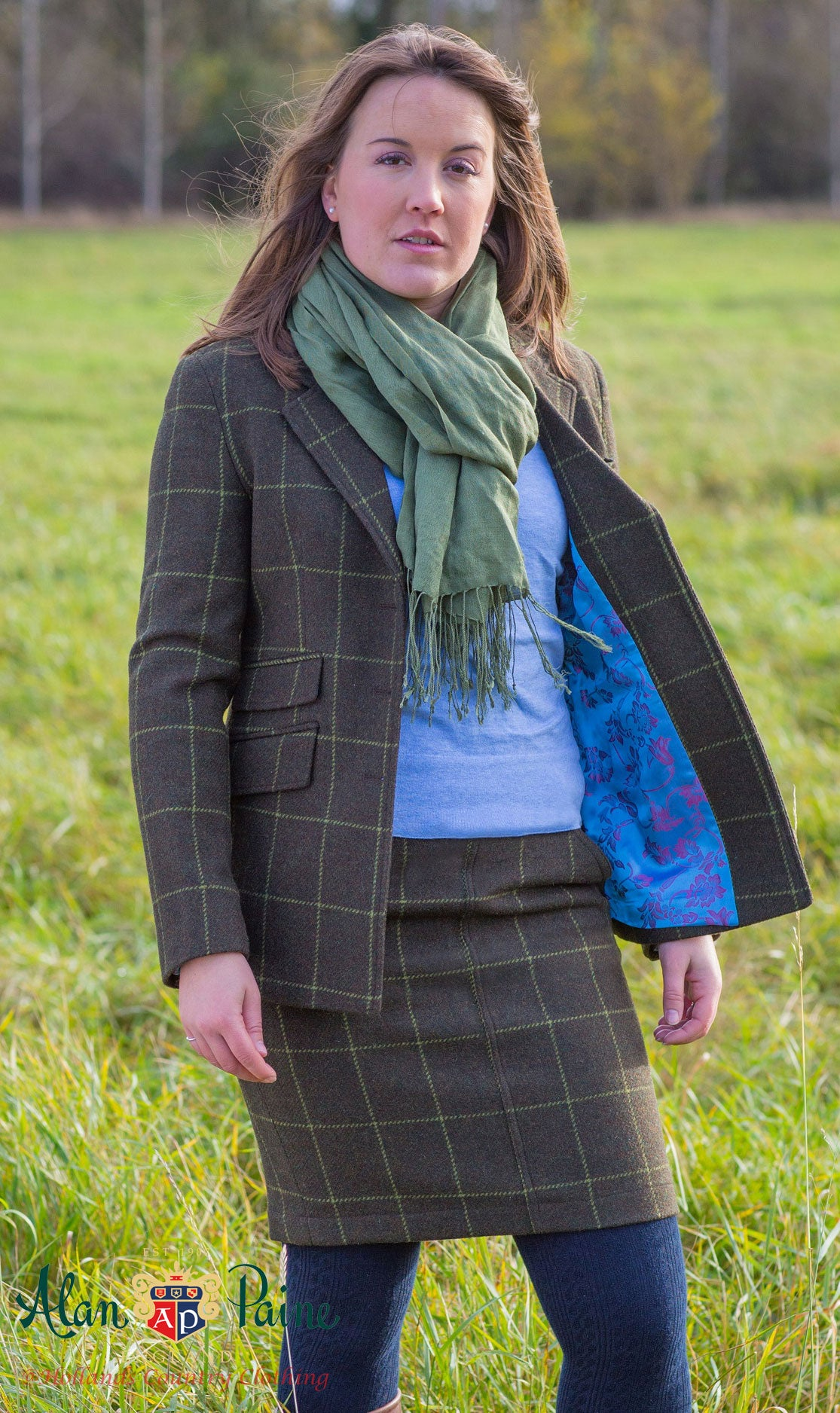 wearing alan paine in a field