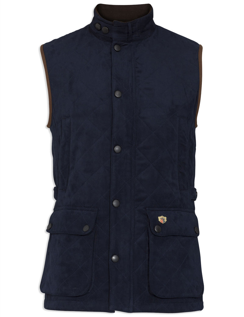 Navy Alan Paine Felwell Quilted Waistcoat
