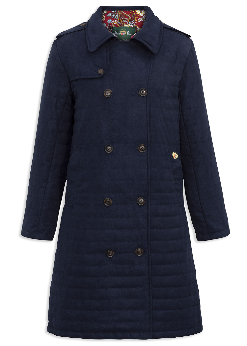 Navy Alan Paine Felwell Ladies Quilt 3/4 Coat
