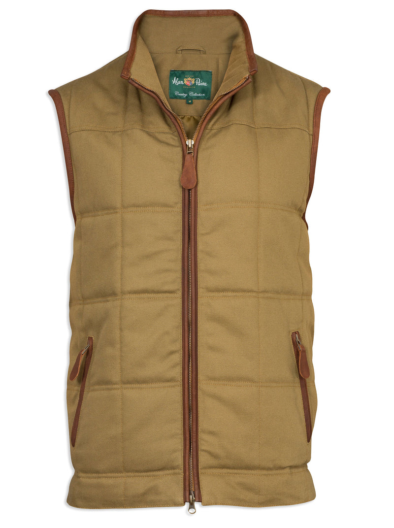 Alan Paine Kexby Quilted Gilet Khaki