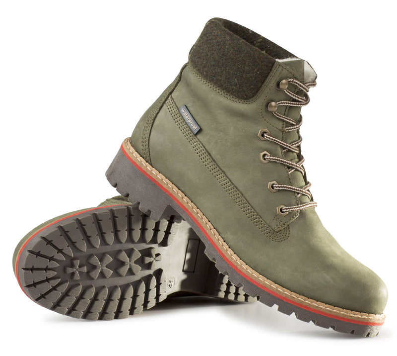 Alan Paine Lace Up Women's Shooting Boot in olive leather
