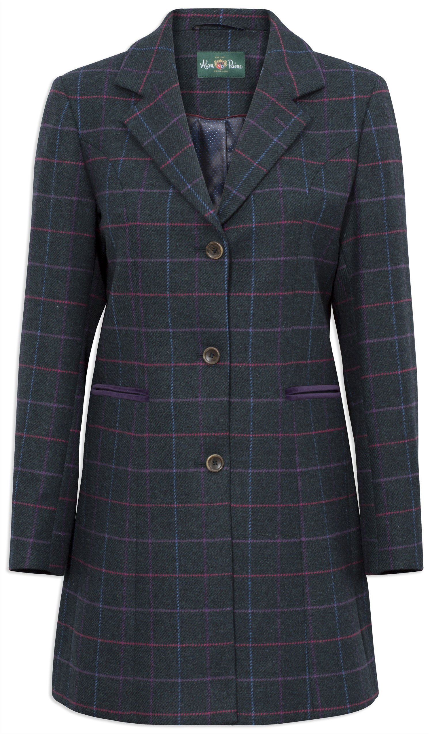 Alan Paine Surrey Tweed Coat | Dark Navy