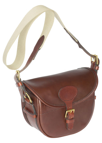 Alan Paine Leather Cartridge Bag Rich Brown