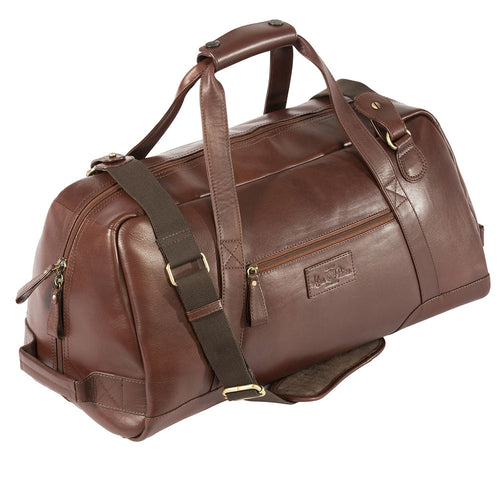 Alan Paine Leather Weekend Bag Oak Leather