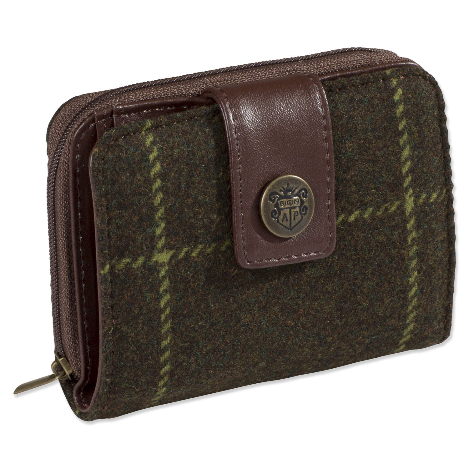 Alan Paine Combrook Small Purse | Avocado