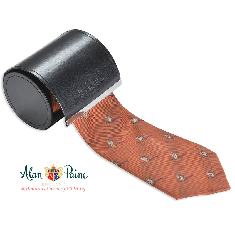 Rust colour Alan Paine Ripon Silk Tie | Flying Pheasants