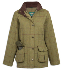 Alan Paine Rutland Ladies Waterproof Tweed field coat in lichen tweed