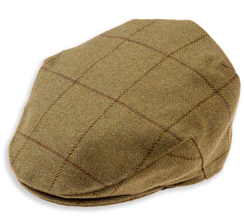 Alan Paine Rutland Tweed Flat Cap with waterproof membrane