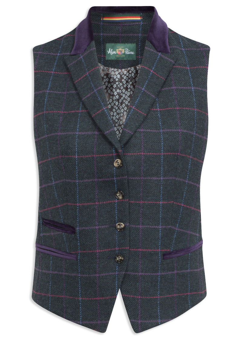 Alan Paine Surrey Ladies Lapel Waistcoat | Dark Navy