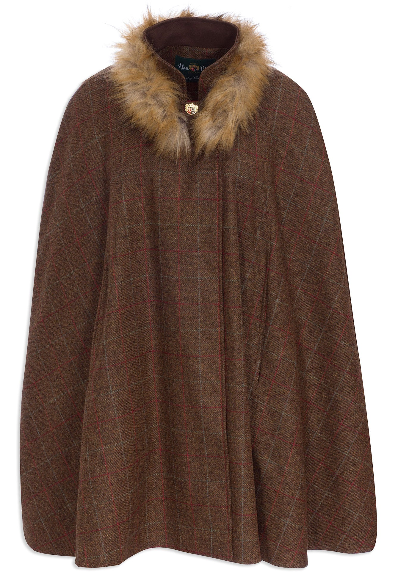 Alan Paine Surrey Tweed Cape | Hazel