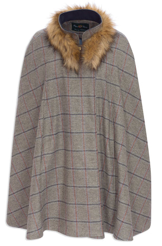Surrey Orchard Tweed Shoulder Cape by Alan Paine