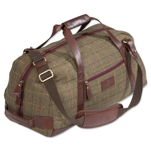 Alan Paine Tweed Travel Bag | Peat - Hollands Country Clothing