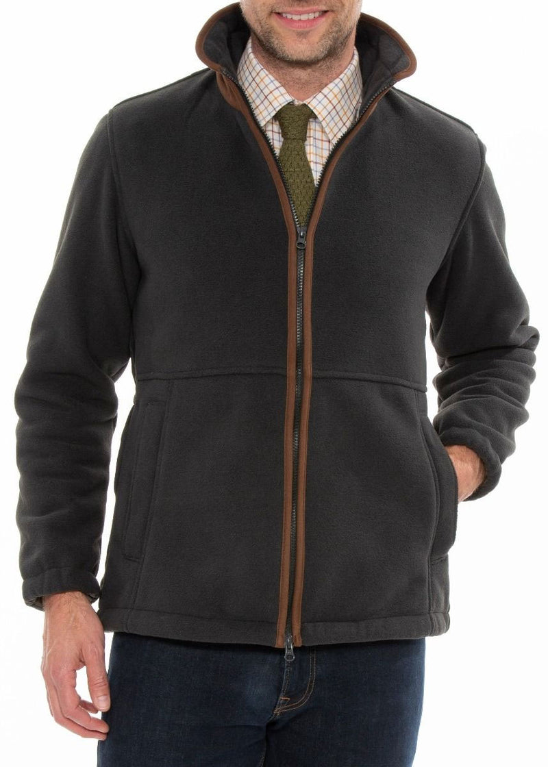 Man's Alan Paine Aylsham Fleece Jacket | Charcoal