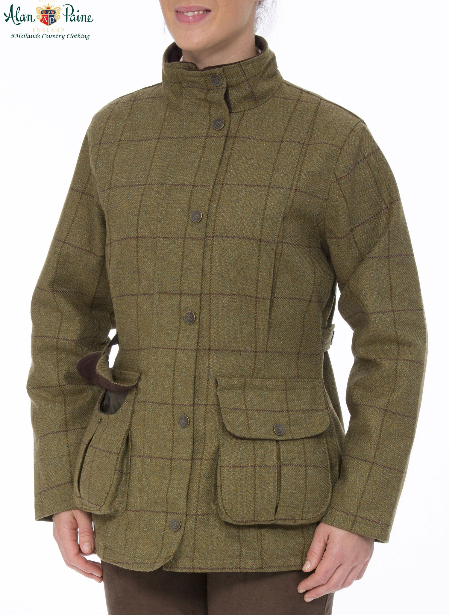 lady wearing Alan Paine Rutland Ladies Waterproof Tweed