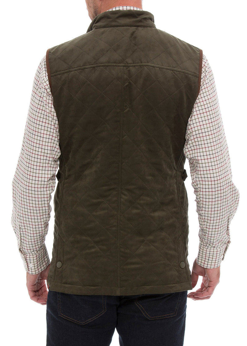 Back view Felwell Men's Quilted Waistcoat by Alan Paine