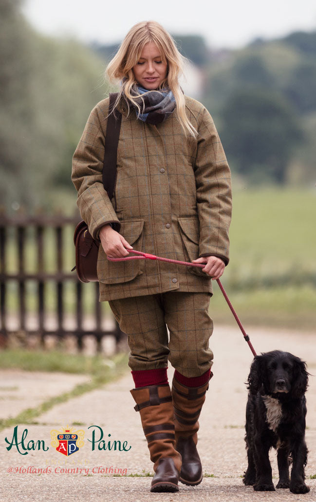 walking the dog in high leg leather alan paine boots
