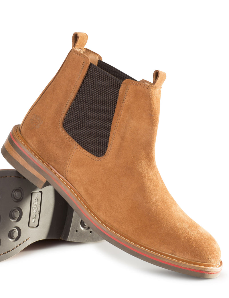Tan Alan Paine Men's Suede Slip On Boot
