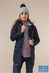Navy Alanna Quilted Waterproof Coat by Lighthouse