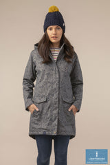 Alanna Quilted Waterproof Coat by Lighthouse Urban Grey Print