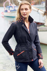 woman wearing Jack Murphy Alex Waxed Cotton Jacket